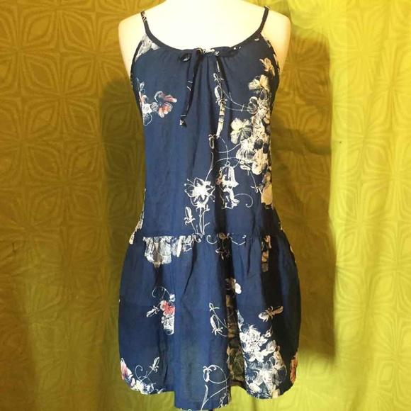 b9496ec556 Anthropologie Dresses   Skirts - Eloise Anthro Navy Floral Mini Dress  Sundress M